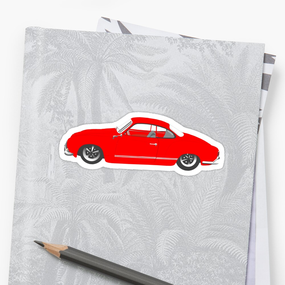 Red Karmann Ghia by MangaKid