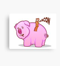 Bacon Pig Canvas Print