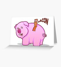 Bacon Pig Greeting Card