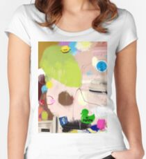 discussion 017 Women's Fitted Scoop T-Shirt