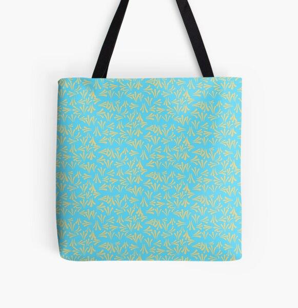 Sweet  Kurbits Folkart pattern - blue yellow All Over Print Tote Bag