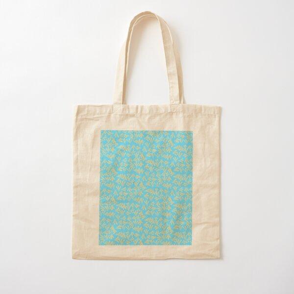 Sweet  Kurbits Folkart pattern - blue yellow Cotton Tote Bag