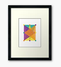 Crisscross Rectangle Framed Print
