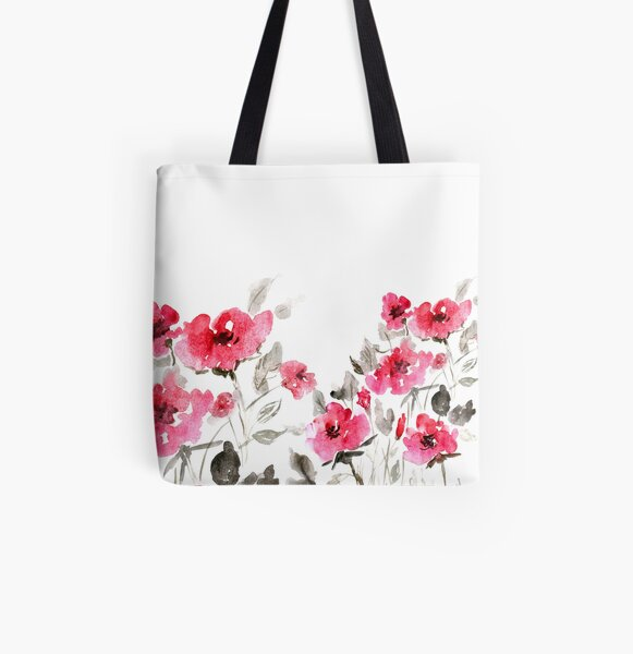 Flower Power All Over Print Tote Bag