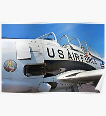 The Downwind T 28 US Air Force Trainer Poster