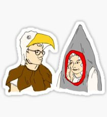 Eagle vs. Shark Sticker