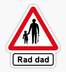 Skateboard Rad Dad Road Sign Sticker