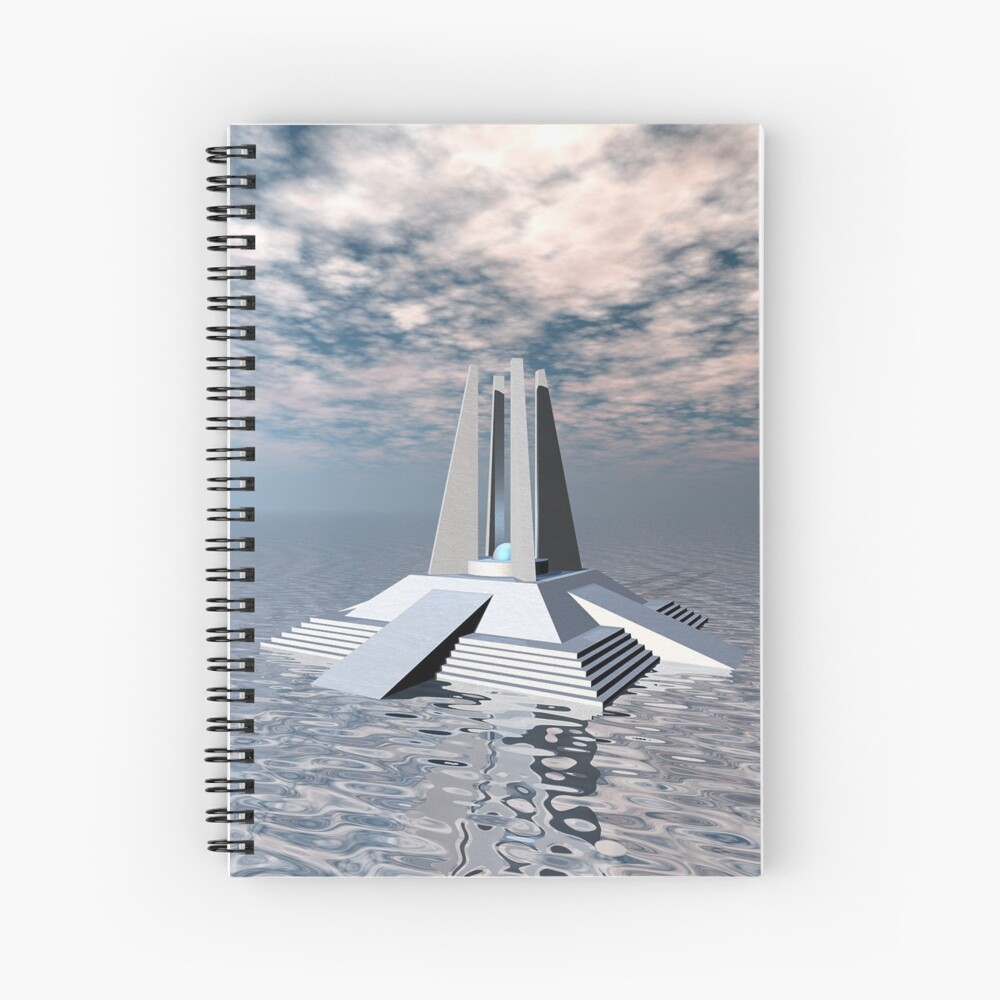 Structural Tower of Atlantis Spiral Notebook