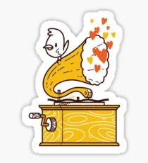 Phonograph and the Bird Sticker