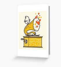 Phonograph and the Bird Greeting Card