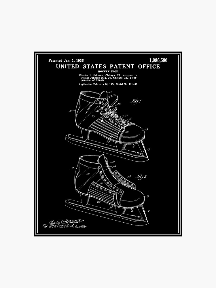 db2197f01eee3 Hockey Skate Patent - Black | Photographic Print