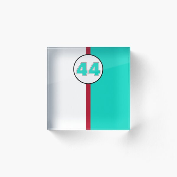 Vintage Style Race Number 44 Green and Red Acrylic Block