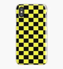 Checkered Black and Yellow Flag iPhone Case/Skin