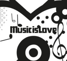 Music is Love Sticker