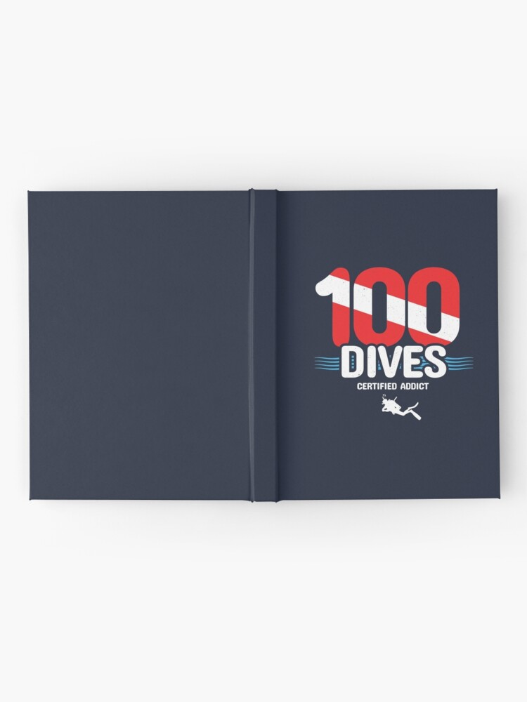 Alternate view of 100th Dive Gift - Diver Down Flag - Scuba Diving Hardcover Journal