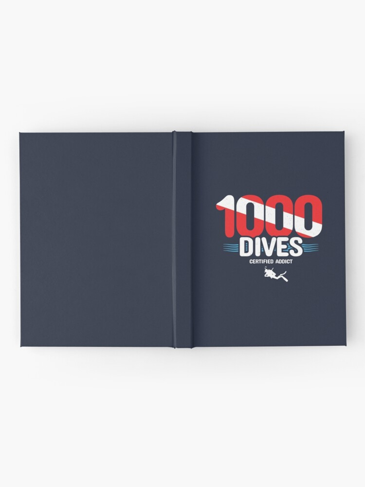 Alternate view of 1000th Dive - Diver Down Flag - Scuba Diving Hardcover Journal