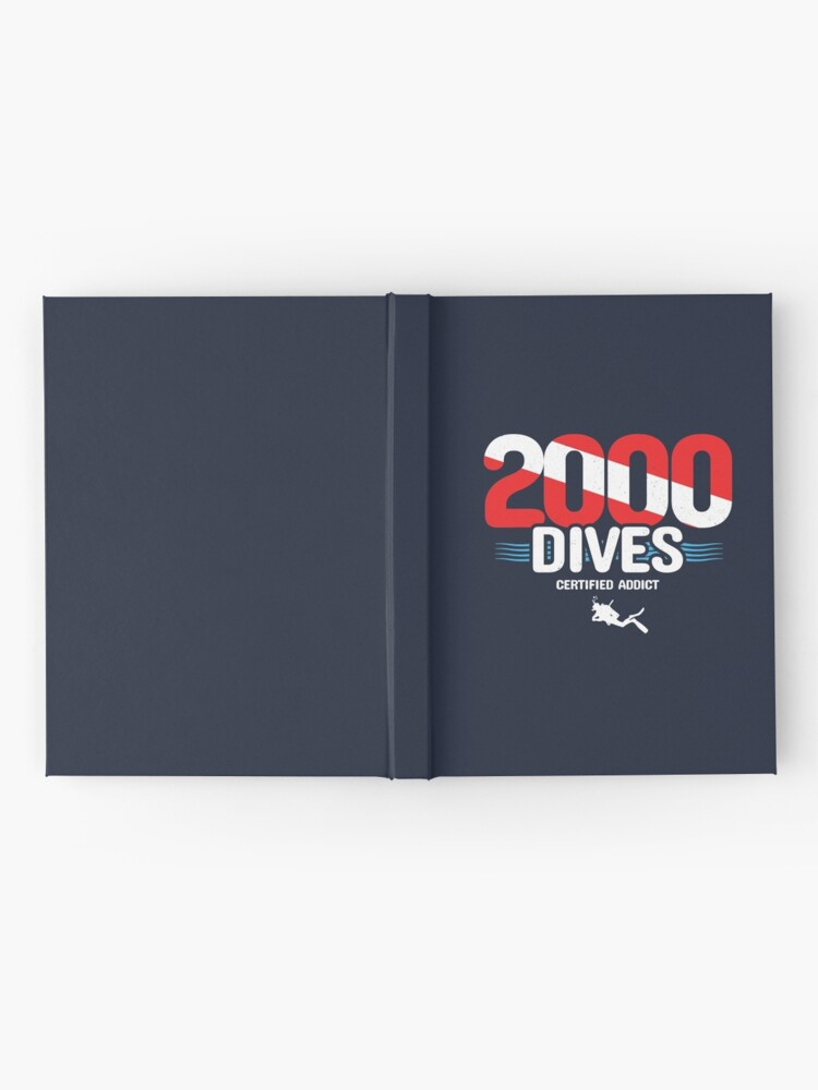 Alternate view of 2000th Dive - Diver Down Flag - Scuba Diving Hardcover Journal