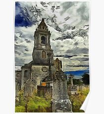 St George's Church, Southwell, Portland, Dorset, UK (Colour version) Poster