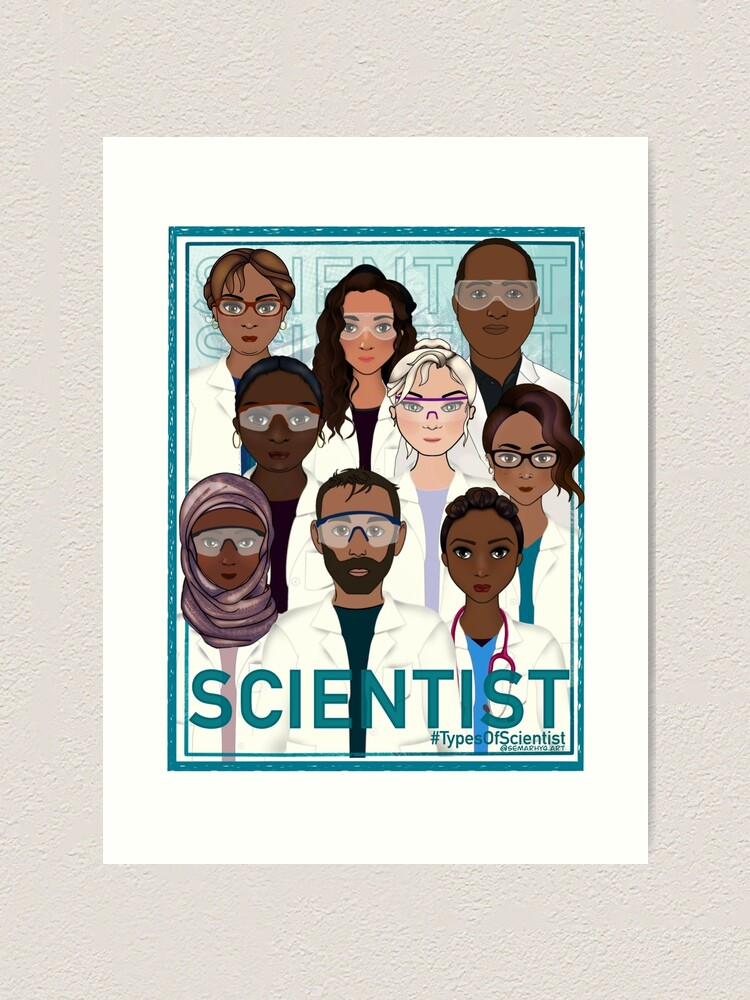 Alternate view of We are Scientists Art Print