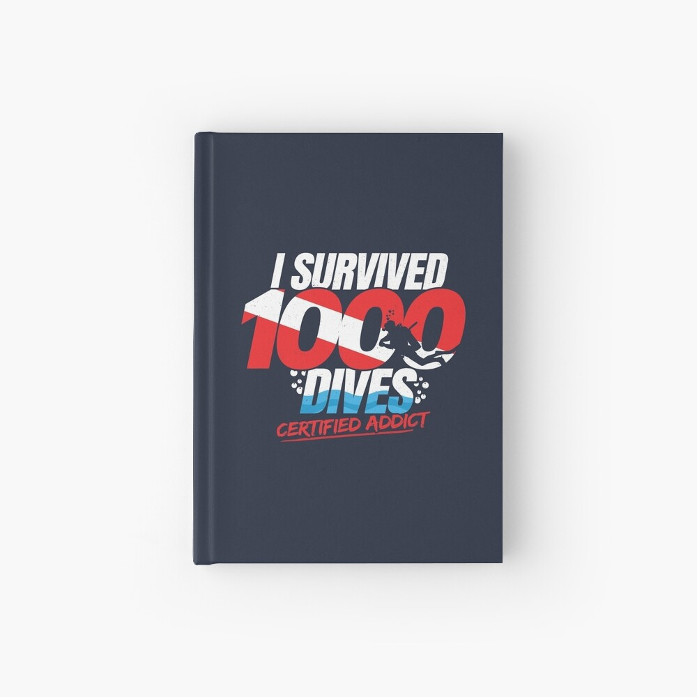 Certified Scuba Diver - 1000th Dive - Funny Scuba Diving Hardcover Journal