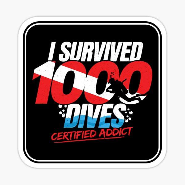 Certified Scuba Diver - 1000th Dive - Funny Scuba Diving Sticker