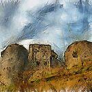 Corfe Castle, Dorset, UK  by David Carton