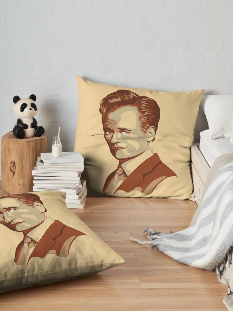 Alternate view of Conan O'Brien Portrait Floor Pillow