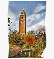 Cabot tower and Peace Park, Bristol, UK Poster