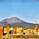 Ruins of Pompeii & Vesuvius, Italy by David Carton