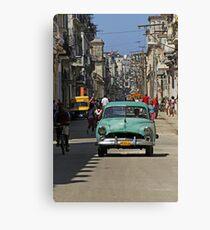 Street scene, Havana, Cuba Canvas Print