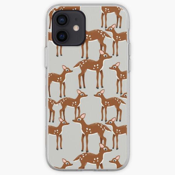 Sweet Spring Deer Print iPhone Soft Case
