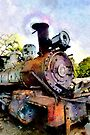 Rusty Train, Havana, Cuba by David Carton