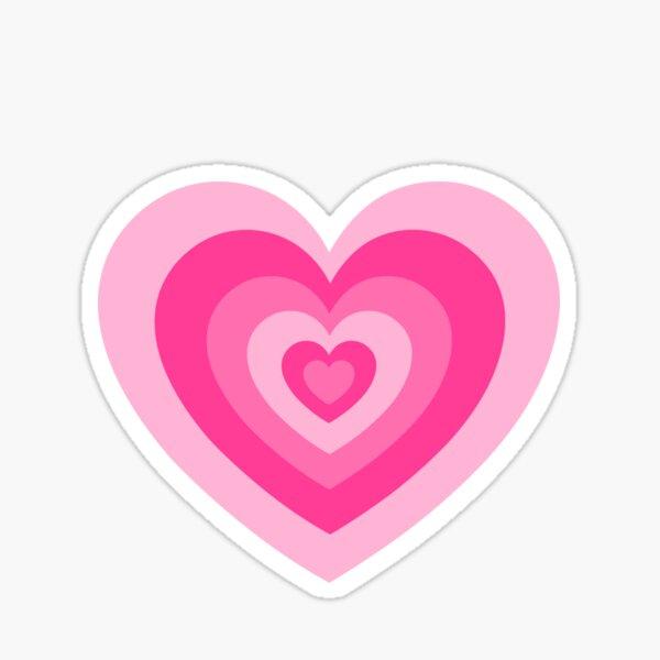 Pink Heart Pattern Sticker