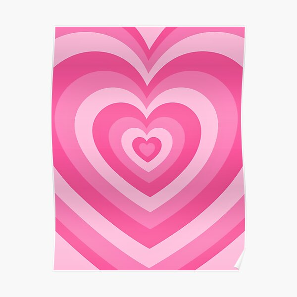 Pink Heart Pattern Poster