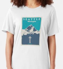 Seattle Washington. Slim Fit T-Shirt