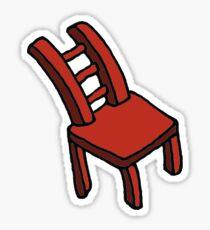Red Cartoon Stylized Bendy Chair  Sticker
