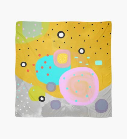 Yellow Abstract Art Scarf
