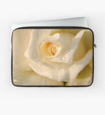 Close up of a beautiful and perfect white rose Laptop Sleeve