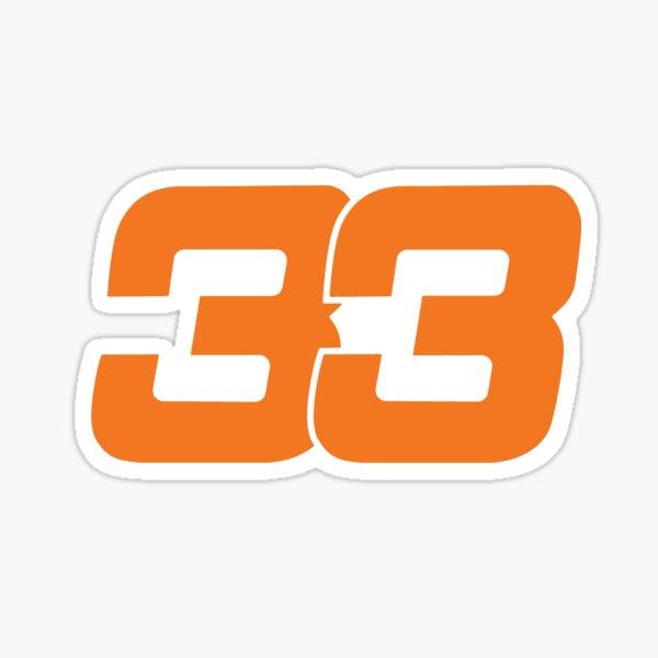 Max Verstappen 33 - Orange - Formel 1 Sticker