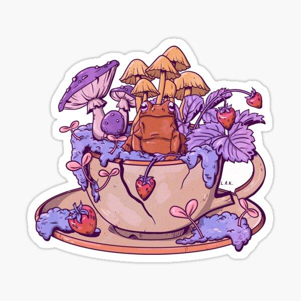 Froggy Fungi Teacup Sticker