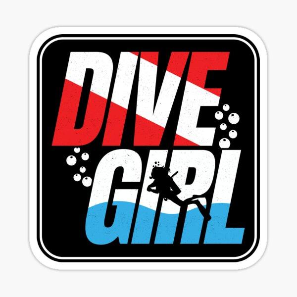 Scuba Diver Gift for Women - Dive Girl - Scuba Diving Sticker
