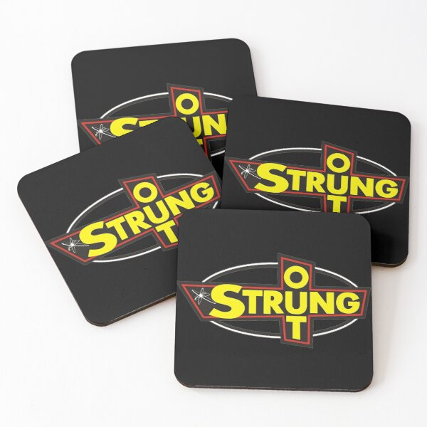 Strung Out -  Original graphic. Awesome punk rock / emo band. Coloured print. Coasters (Set of 4)