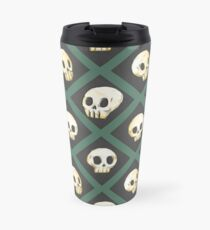Tiling Skulls 3/4 - Green Travel Mug