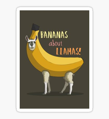 Bananas About Llamas! Sticker