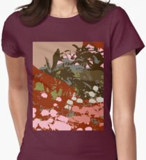 Low lying mountain ranges 3 Womens Fitted T-Shirt