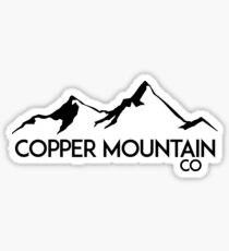 COPPER MOUNTAIN COLORADO Ski Skiing Mountain Mountains Skiing Skis Silhouette Snowboard Snowboarding Sticker