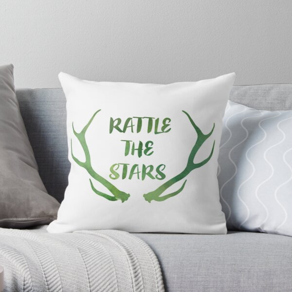 Rattle the Stars watercolor Throw Pillow