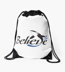 Trua Believe Logo Drawstring Bag