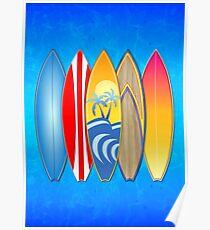 Surfbretter Poster