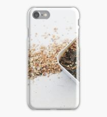 green cactus in white pot and spill soil iPhone Case/Skin